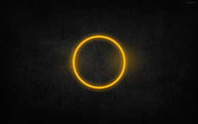 Picture texture, ring, round, yellow