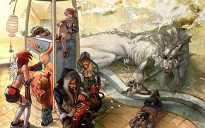 Picture people, dragon, anime