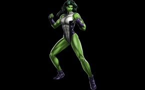 Picture green, MARVEL, She-Hulk, She-hulk