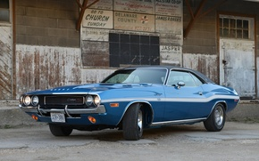 Wallpaper background, Dodge, Dodge, Challenger, 1970, the front, Muscle car, Muscle car, 426, Hemi, Chelenzher, RT ...