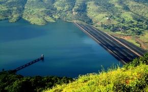 Picture lake, India, panorama, panorama, lake, India, Mahabaleshwar, Mahabaleshwar