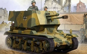 Picture figure, art, SAU, Panzerjäger 35R, 7 cm PaK(t) Panzerkampfwagen 35R(f)