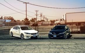 Picture white, wheels, Honda, Accord, black, Galpin, wossen