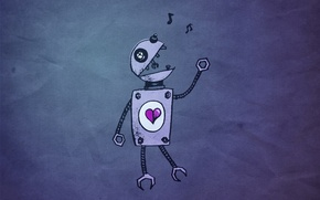 Picture heart, robot, Love