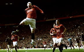 Picture grass, game, victory, sport, the game, Rooney, goal, Manchester, Liverpool, stadiums, Runni, Carrick, victory, rooney ...