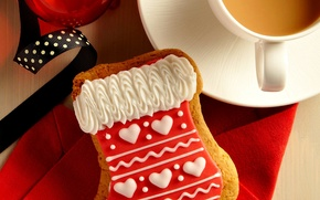 Picture tape, holiday, ball, coffee, food, cookies, Cup, cappuccino, dessert, cup, Merry Christmas, holiday, coffee, ball, …