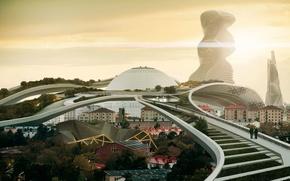 Picture Stockholm, Sweden, Square Enix, Stockholm, Cityscape, Deus Ex: Mankind Divided, 2029