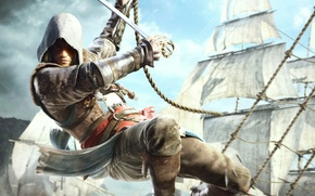 Picture ships, pirate, Edward Kenway, Assassin's Creed IV Black Flag