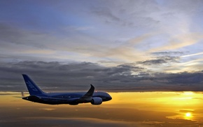 Wallpaper Boeing 787-8 Drimeliner, Continues, Flight Testing