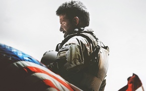 Picture cinema, red, white, soldier, military, blue, stars, man, ops, movie, american, flag, assassin, shooter, Bradley ...