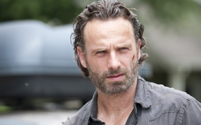 Picture look, face, The Walking Dead, The walking dead, Andrew Lincoln, Andrew Lincoln