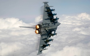 Picture the plane, missiles, turn, nozzle, Eurofighter EF-2000 Typhoon, Eurofighter Typhoon