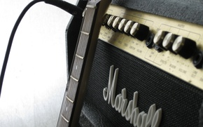 Picture macro, photo, guitar, marshall, the amplifier