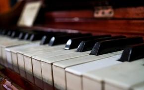 Picture macro, piano, music