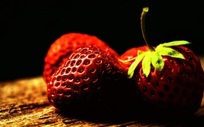 Wallpaper macro, picture, treatment, color, berries, fruit, photo, vitamins, strawberry
