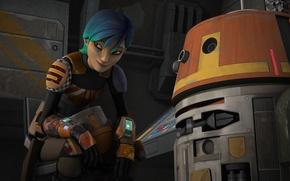 Picture Chopper, animated series, Star wars: Rebels, Sabina, Star Wars: Rebels