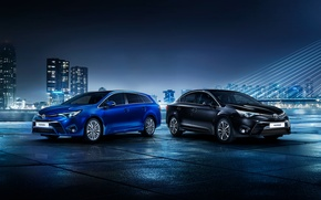Picture Toyota, avensis, blue fon