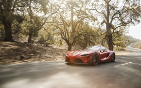 Picture road, auto, Concept, speed, Toyota, the front, FT-1