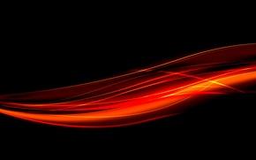 Wallpaper fire, line, glow