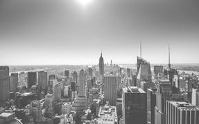 Picture United States, New York, Manhattan, sun, sunlight, skyscrapers, cityscape, Empire States Building