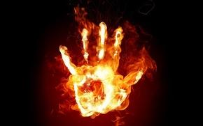 Wallpaper flame, hand, fire
