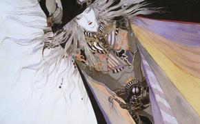 Picture figure, hat, belt, cloak, Di vampire hunter, Vampire hunter D, long white hair, by Amano …
