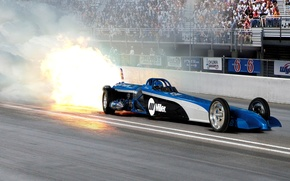 Picture fire, track, race, car, track, the fast and the furious, racing, special, Miller Jet Dragster, …