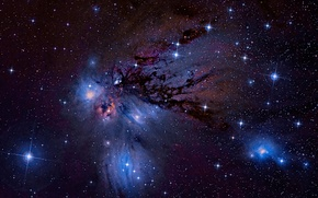 Picture nebula, Unicorn, in the constellation, reflecting, NGC-2170