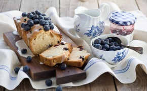 Picture blueberries, jam, Blueberry muffin