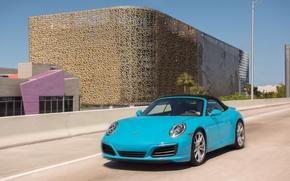 Picture road, movement, 911, Porsche, convertible, car, Porsche, Cabriolet, Carrera S