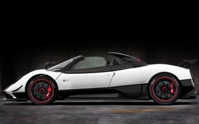 Picture Roadster, White, Machine, Pagani, Car, Car, Cars, Zonda, White, Pagani, Sink, Probe, Cinque, Roadster, Side …