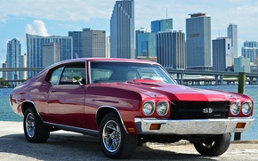 Picture Chevrolet, Red, Chevelle