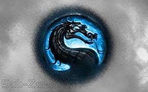 Picture Logo, Blue, Logo, Mortal Kombat