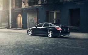 Picture black, Nissan, black, Nissan, rearside, Altima