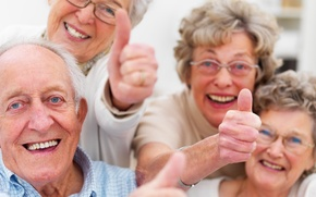 Wallpaper group, happiness, older people, smile