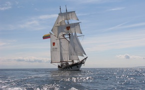 Picture training, sailing, Scientific research, vessel BRABANDER