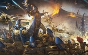 Picture Warhammer 40000, Eldar, Eldar, Warhammer 40K, Warlock, Guardian, Wave Serpent, Iyanden, Landen, Howling Banshee, Shining …