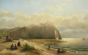 Picture sea, landscape, mountain, picture, The Coast, Willem Anthonie van Deventer