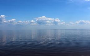 Picture the sky, water, lake, Nature, Ilmen