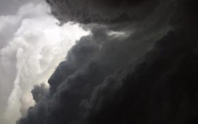 Wallpaper white, clouds, black
