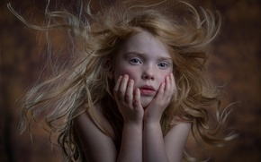 Picture portrait, girl, freckles, Kaylie