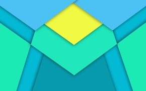 Picture Android, Blue, Design, 5.0, Line, Yellow, Lollipop, Stripes, Abstraction, Material