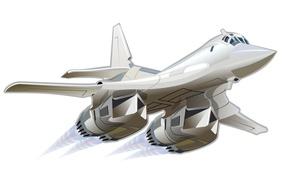 Wallpaper the plane, art, wallpaper, BBC, missile, The Tu-160, white Swan, Russia., developer, Tupolev, Videoconferencing, creative ...