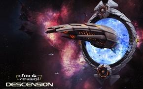 Picture space, stars, the portal, spaceship, d'mok revival, descension
