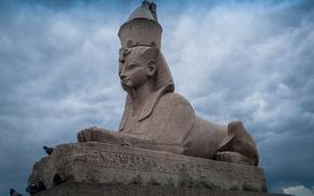 Picture sculpture, promenade, Sphinx, St. Petersburg