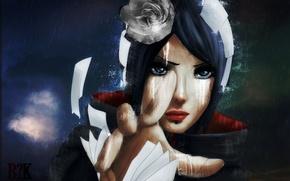 Picture flower, paper, hand, naruto, Conan