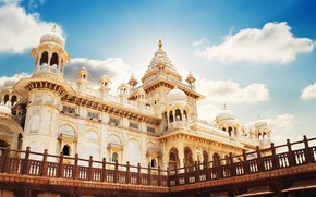 Picture India, Jodhpur, the mausoleum of Jaswant Thada, the former capital of Marwar Raja, Rajasthan