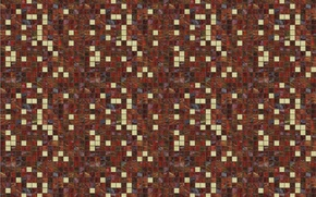 Picture mosaic, squares, background, wall, mesh, tile, grille, texture