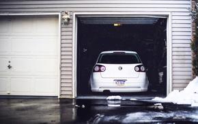 Picture volkswagen, white, Golf, golf, Volkswagen, rear, MK5