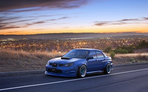 Picture tuning, the evening, Subaru Impreza, subaru impreza wrx sti